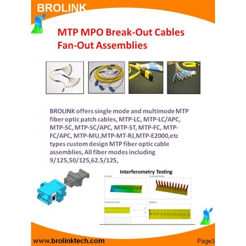 MTP MPO Break-Out Cables Fan-Out Assemblies
