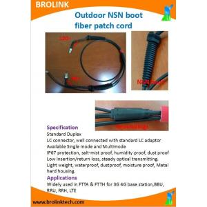 Outdoor NSN boot fiber patch cord
