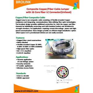 Composite Copper/Fiber Cable Jumper