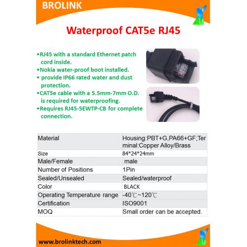 Waterproof CAT5e RJ45
