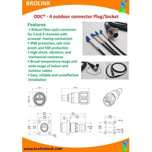 ODC® - 4 outdoor connectorPlug/Socket